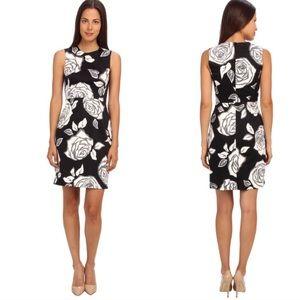 Kate Spade Black Floral Rose Printed Sheath Dress